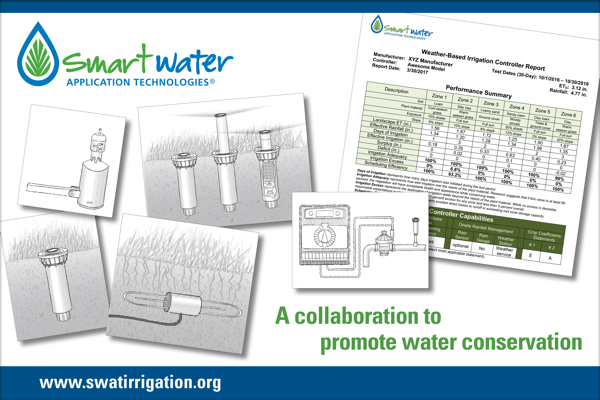 Smart Water Application Technologies Postcard - A collaboration to promote water conservation